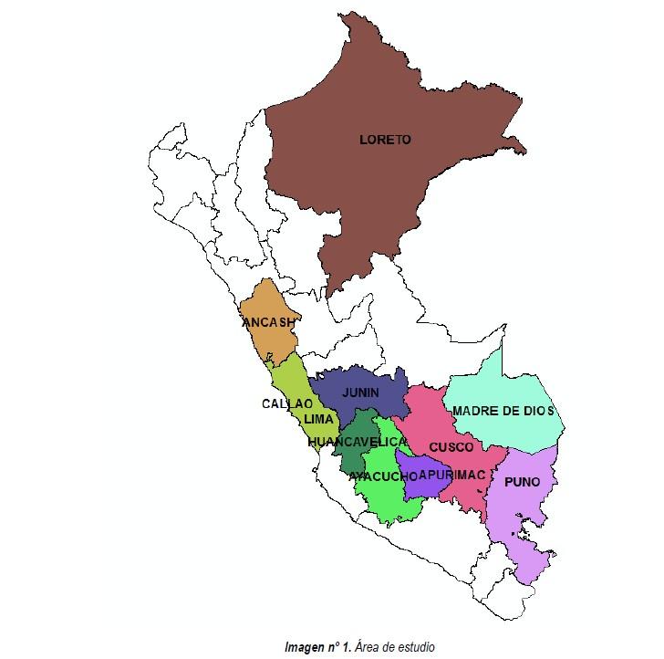 (Español) Inventario de carreteras de 10 departamentos en Perú
